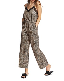 1.STATE - Sleeveless Leopard-Print Jumpsuit