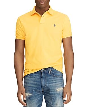 Polo Ralph Lauren T-shirts MESH CUSTOM SLIM FIT POLO SHIRT