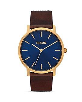Nixon - Porter Brown Leather Strap Watch, 40mm