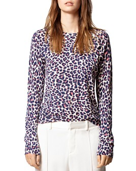 Zadig & Voltaire - Leopard-Print Cashmere Sweater