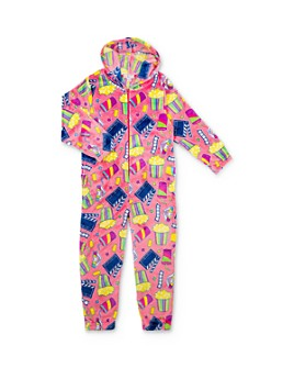 Candy Pink - Girls' Movie Print One-Piece Pajamas - Little Kid, Big Kid