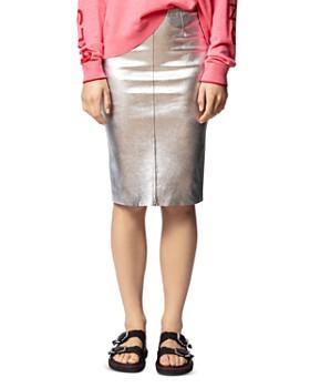 Zadig & Voltaire - Jaden Metallic Leather Skirt