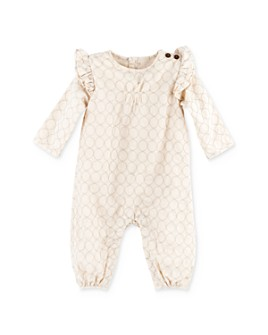 Oliver & Rain - Girls' Ruffled Schiffli Coverall - Baby