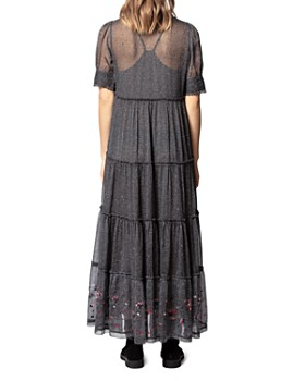 Zadig & Voltaire - Rapidel Printed Embroidered-Hem Maxi Dress