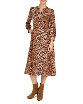 Gerard Darel - Darielle Leopard-Print Silk Midi Dress