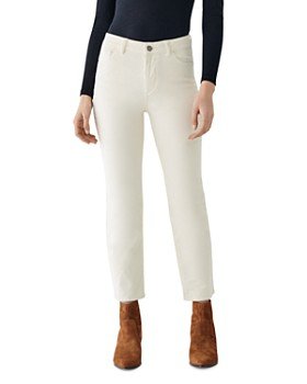 DL1961 - Mara Ankle High Rise Corduroy Jeans in Meringue