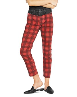 Hudson - Plaid Two Tone Bettie Jeans in Critical