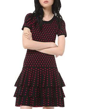 MICHAEL Michael Kors - Tiered Polka Dot Mini Dress