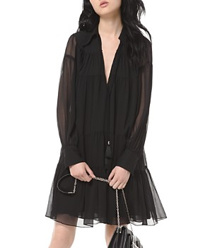 MICHAEL Michael Kors - Shirred Georgette Dress