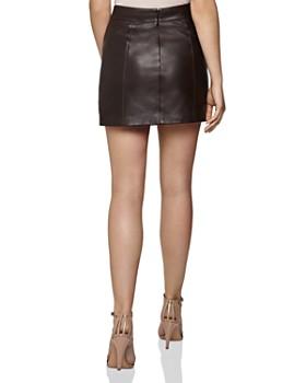 REISS - Arden Leather Mini Skirt