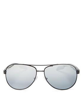 Prada - Men's Polarized Brow Bar Aviator Sunglasses, 62mm