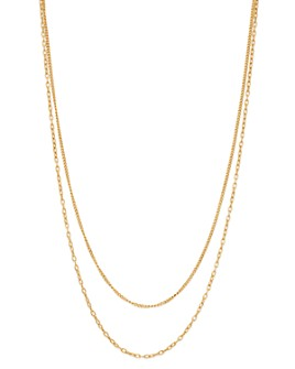 """Zoë Chicco - 14K Yellow Gold Double Chain Necklace, 20"""""""