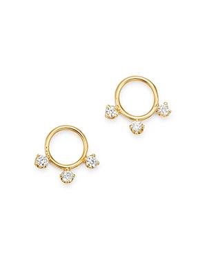 Zoe Chicco 14K Yellow Gold Diamond Small Circle Stud Earrings