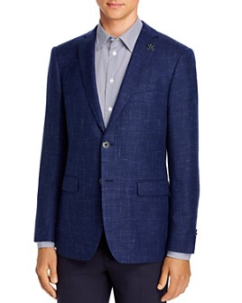 John Varvatos Star USA - Wool & Linen Basketweave Slim Fit Sport Coat