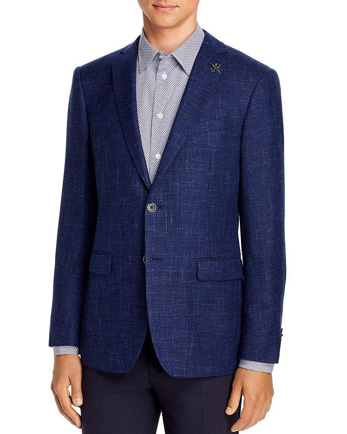 John Varvatos Star USA - Wool & Linen Basketweave Slim Fit Sport Coat