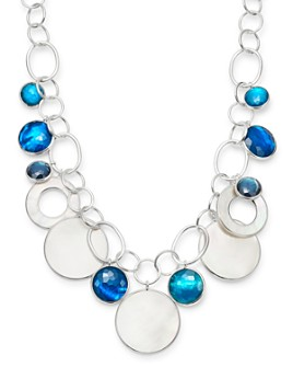 IPPOLITA - Sterling Silver Wonderland Chain Link Necklace with Mother-of-Pearl Doublet in Blue Moon, 19.5""
