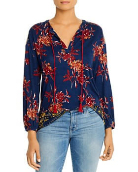 Daniel Rainn - Printed Tie-Neck Top