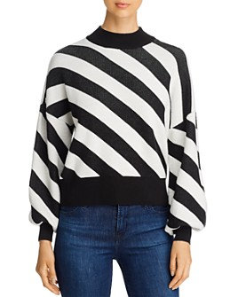 Vero Moda - Labi Striped Mock-Neck Sweater
