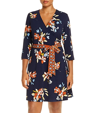 Leota Plus Faux-Wrap Mini Dress