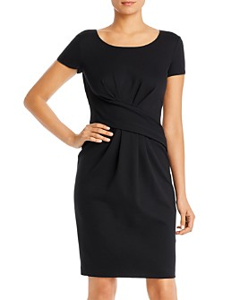 Armani - Gathered Ponte Shift Dress