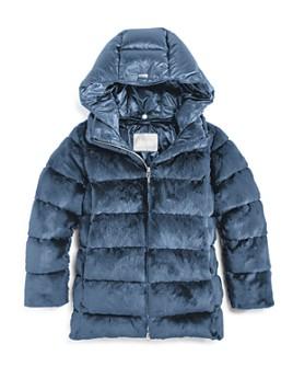 Herno - Girls' Faux Fur Puffer Jacket - Little Kid