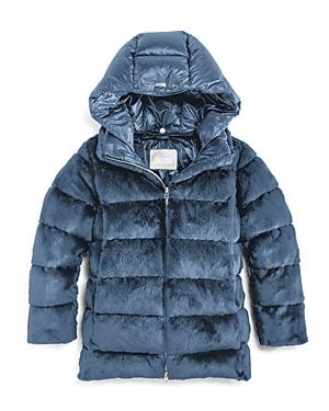Herno Girls\\\' Faux Fur Puffer Jacket - Little Kid-Kids