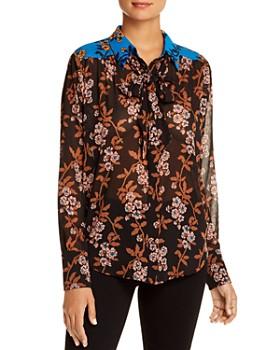 Scotch & Soda - Mixed-Print Button-Down Shirt