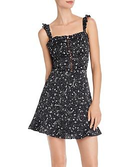 AQUA - Zodiac Print A-Line Dress - 100% Exclusive