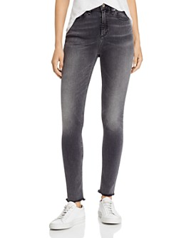 rag & bone - Nina High-Rise Frayed Skinny Jeans in Amory