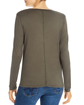 AG - Cambria Long-Sleeve Scoop-Neck Tee