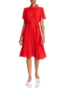 nanette Nanette Lepore - Pintucked Flutter-Sleeve Dress
