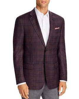 Armani - Checked Virgin Wool Regular Fit Blazer