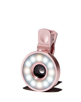 FashionIt - Glo Lens Rose Gold-Tone Selfie Light