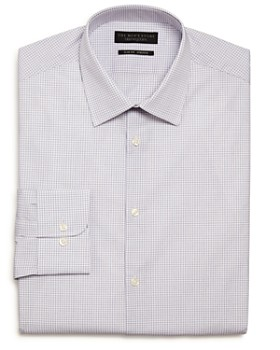The Men's Store at Bloomingdale's - Checked Stretch Slim Fit Dress Shirt