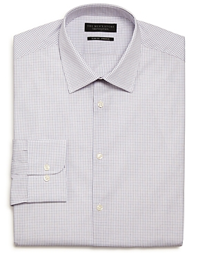 The Men's Store Checked Stretch Slim Fit Dress Shirt