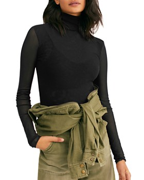 Free People - Mesh Turtleneck Top