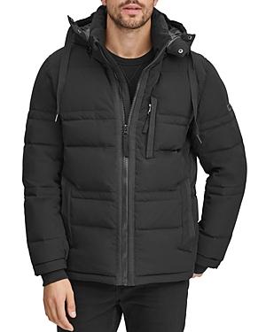 Marc New York Huxley Removable-Hood Down Jacket