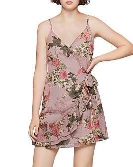 BCBGENERATION - Floral Faux-Wrap Dress