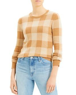 Theory - Cashmere Plaid Crewneck Sweater