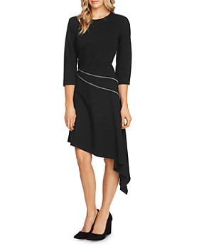 VINCE CAMUTO - Ponte Asymmetric-Hem Dress