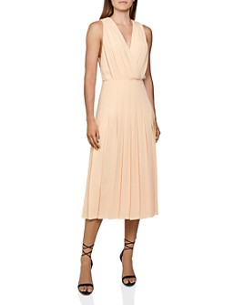 REISS - Mariona Pleated Midi Dress