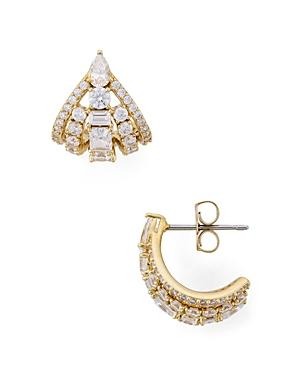 Nadri Rae Mini Fan Earrings-Jewelry & Accessories
