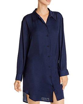 Josie - Bardot Satin Sleepshirt