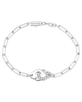 Dinh Van - 18K White Gold Menottes Chain Bracelet with Diamonds