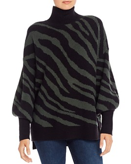 FRENCH CONNECTION - Oversized Tiger Jacquard Sweater