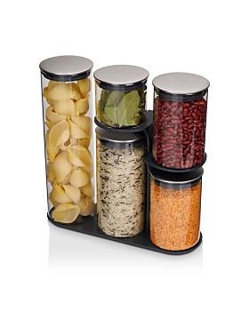 Joseph Joseph - Podium™ 100 5-Piece Glass Storage Jar Set with Stand