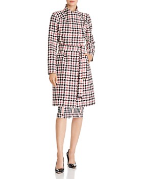 Ted Baker - Abellaa Houndstooth Belted Coat - 100% Exclusive