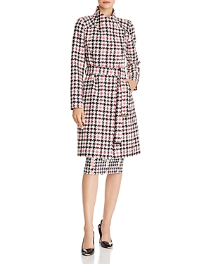 Ted Baker Abellaa Houndstooth Belted Coat - 100% Exclusive In White