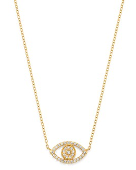 Moon & Meadow - Diamond Evil Eye Pendant Necklace in 14K Yellow Gold, 0.26 ct. t.w. - 100% Exclusive