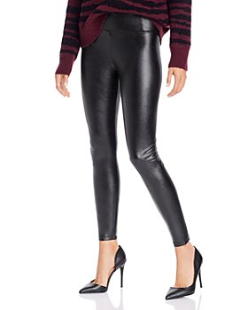 AQUA - High-Rise Faux Leather Leggings - 100% Exclusive